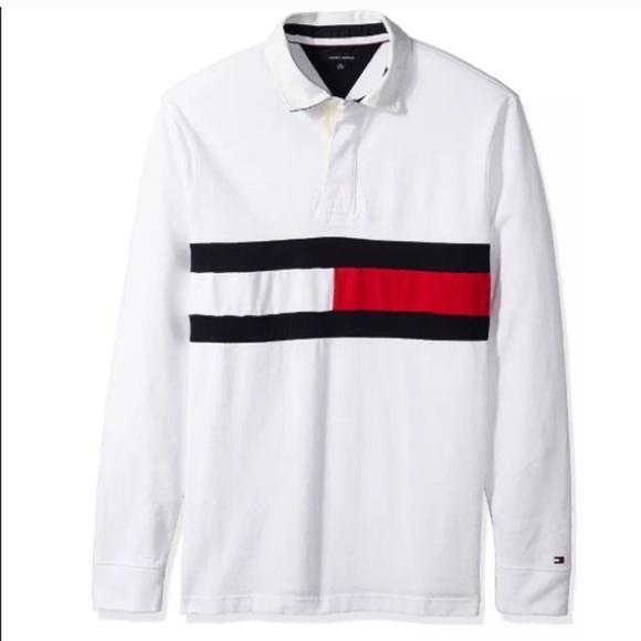 b444a5e2 Tommy Hilfiger Shirts | Nwt Red Longsleeve Rugby Polo Shirt | Poshmark